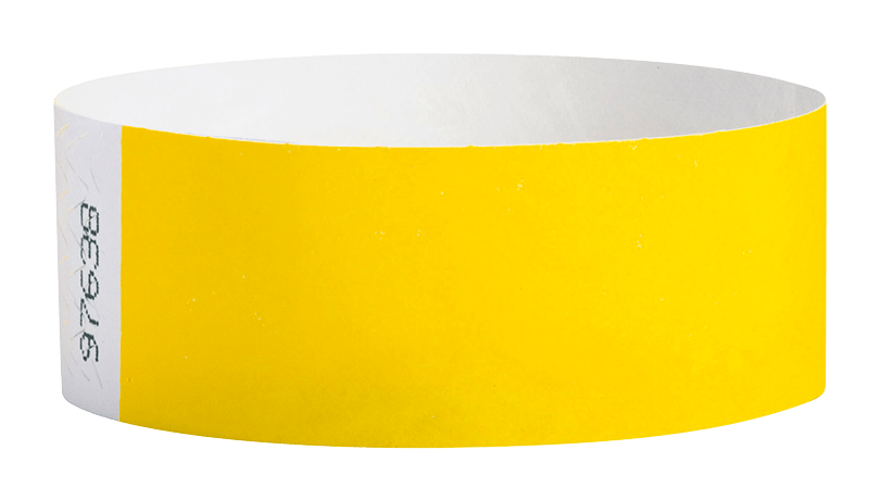 Pantone Yellow Tyvek Solid Wristband