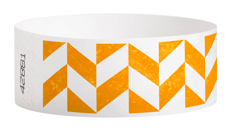 "Parallelogram Tyvek 1"" Wristbands - Backstage Supplies"