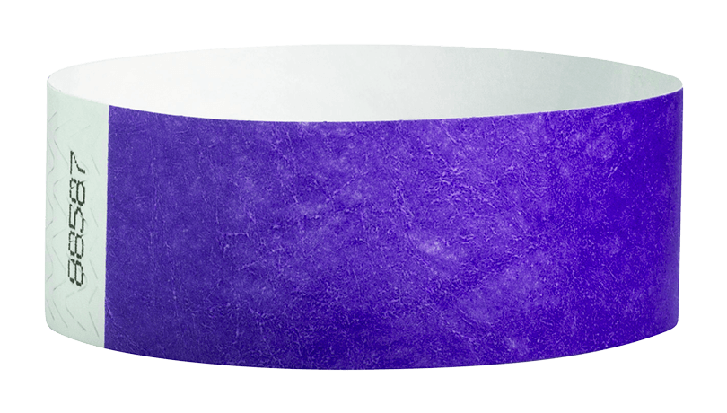 Purple Tyvek Solid Wristbands - Backstage Supplies