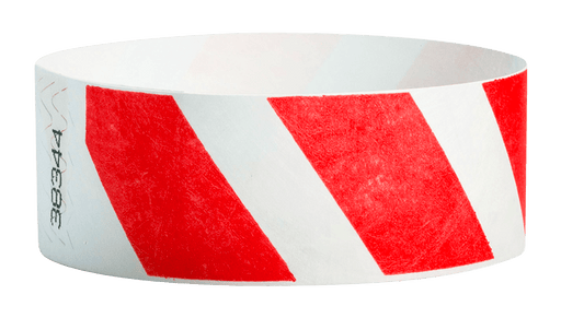 "Red Stripes 1"" Tyvek Wristband"