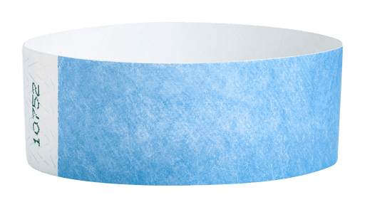 Sky Blue Tyvek Solid Wristbands - Backstage Supplies