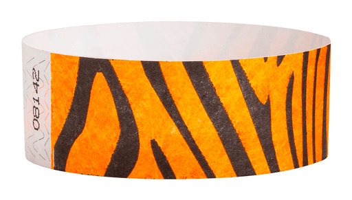 "Tiger Stripe Tyvek 1"" Wristbands - Backstage Supplies"