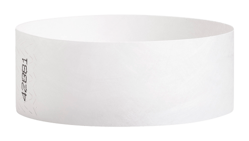 White Tyvek Solid Wristbands - Backstage Supplies