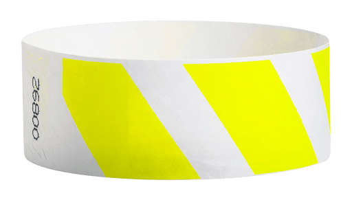 "Yellow Stripes 1"" Tyvek Wristband"