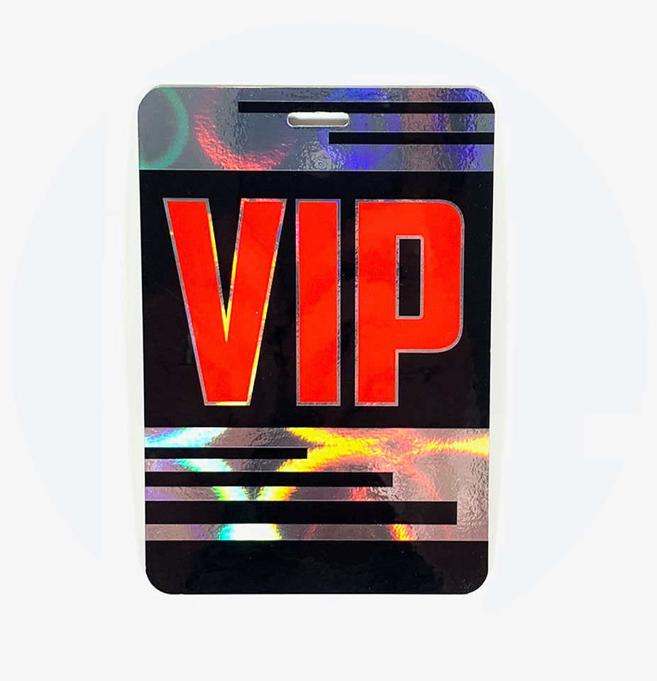 Holographic VIP Backstage Pass