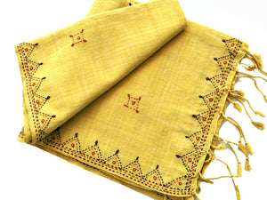 Eco-Dyed Yellow Stole