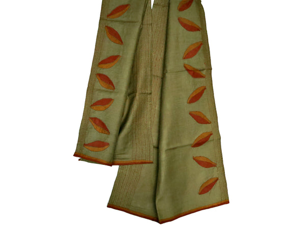 Autumn Leaves Hand-Appliqued Silk Stole - Bay & Harbour