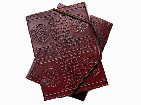 Tribal Cruelty-Free Leather Journal - Bay & Harbour