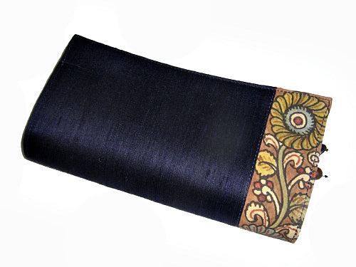 Floral Raw Silk Clutch - Bay & Harbour