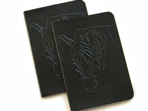 Cruelty-Free Leather Passport Covers - Black - Bay & Harbour