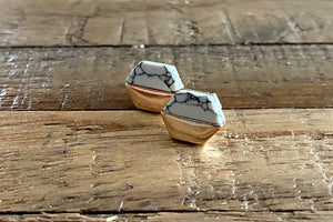 White Turquoise Stud Earrings - Bay & Harbour