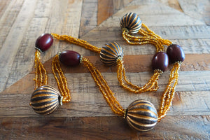 Wood & Bead Necklace - Bay & Harbour