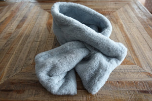 Gray Faux Fur Scarf - Bay & Harbour