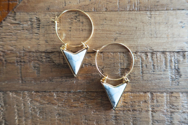 White Turquoise Drop Earrings - Bay & Harbour