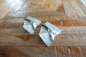 Silver Folded Metal Stud Earrings - Bay & Harbour