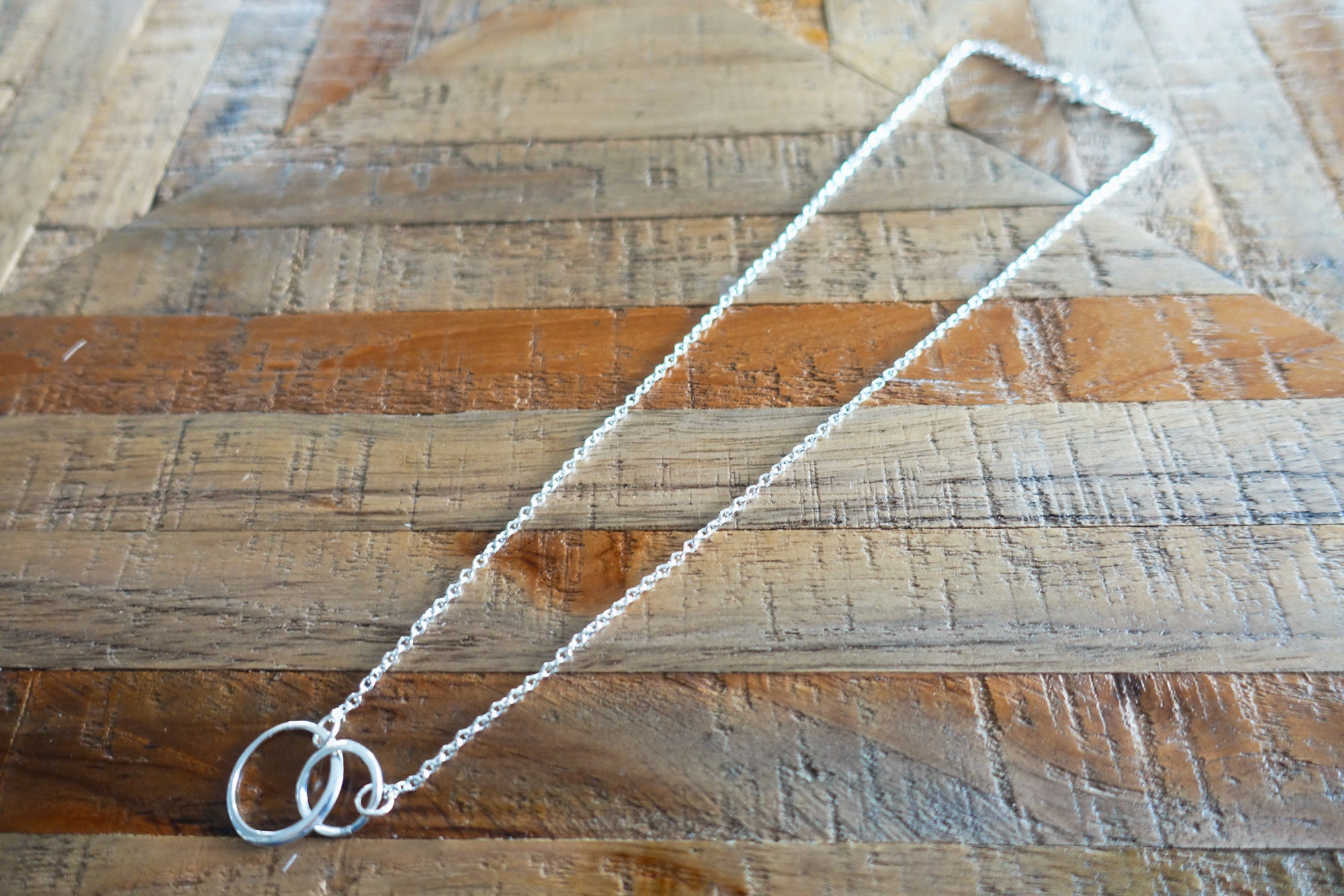 Double-Ring Silver Necklace - Bay & Harbour