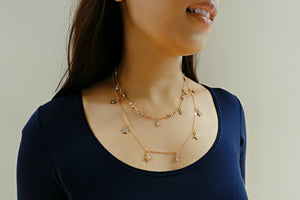 Two-Layer Stars & Moon Choker Necklace - Bay & Harbour