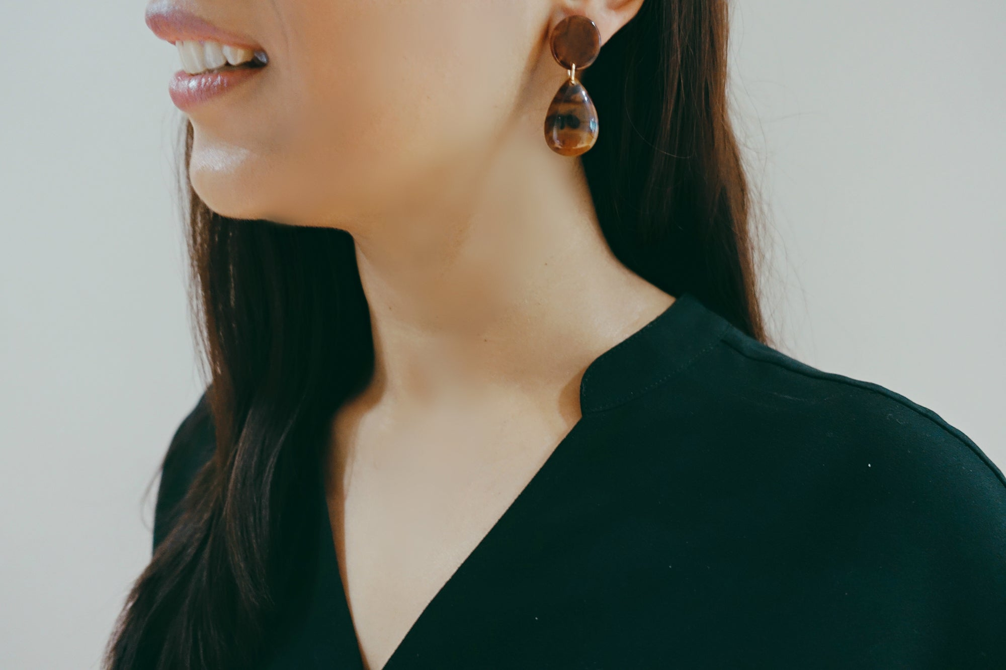 Tortoise Drop Earrings - Bay & Harbour