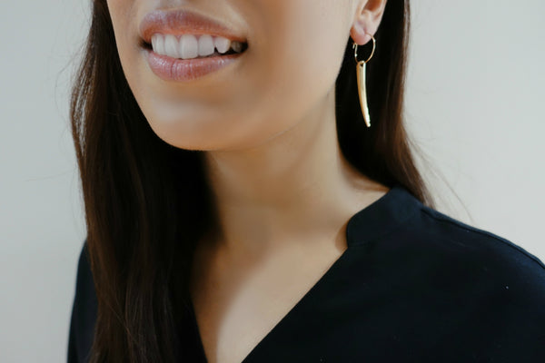 Rocket Gold-Plated Earrings