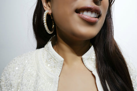 Pearl & Gold Hoop Earrings - Bay & Harbour