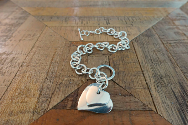 Sterling Silver Heart Bracelet - Bay & Harbour