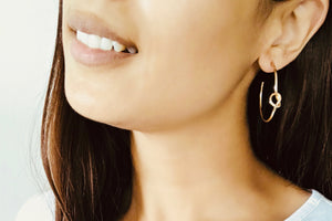Golden Knot Hoop Earrings - Bay & Harbour