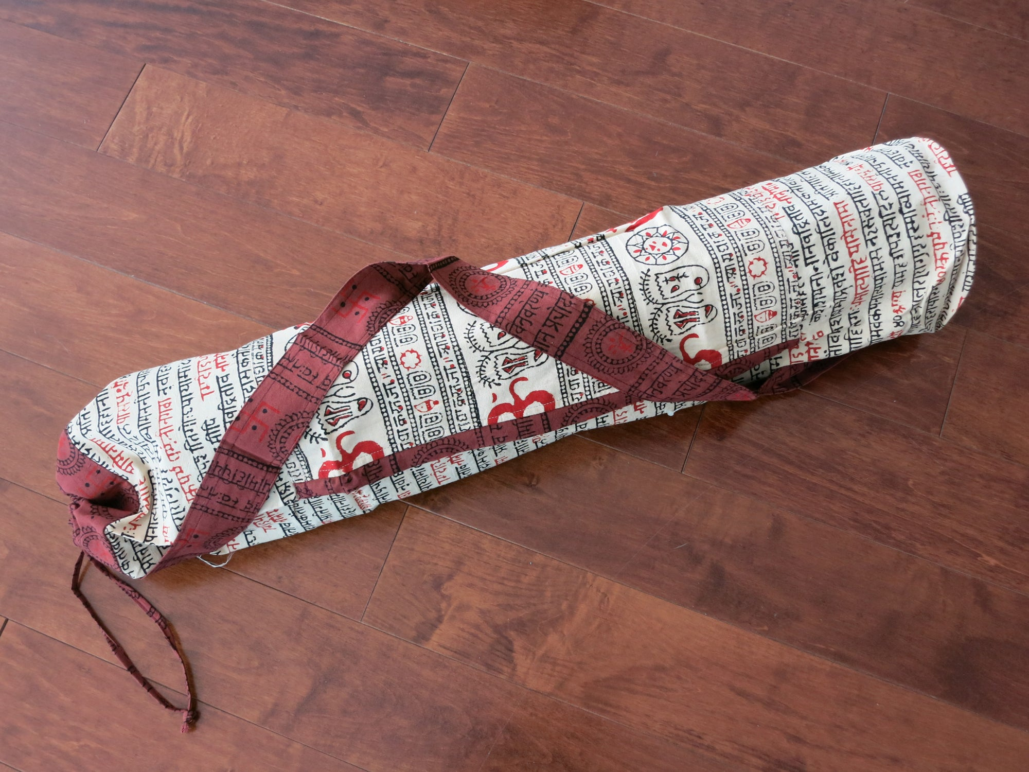 Sanskrit Hand-Printed Yoga Bag
