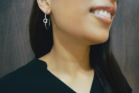 Silver Knot Hoop Earrings - Bay & Harbour