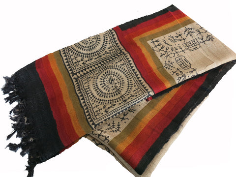 Bhagalpur Tribal Silk Stole - Bay & Harbour