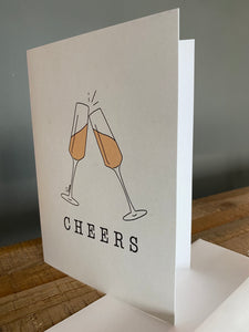 "'Champagne Cheers' 5""x7"" Greeting Card - Bay & Harbour"