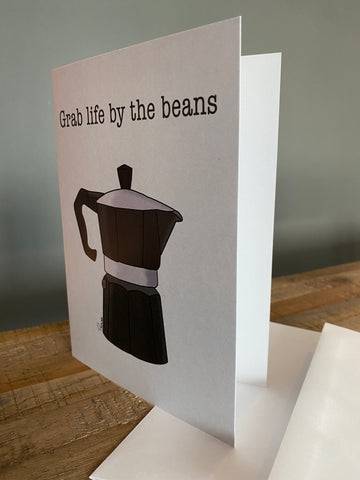 "'Grab Life by the Beans' 5""x7"" Greeting Card - Bay & Harbour"