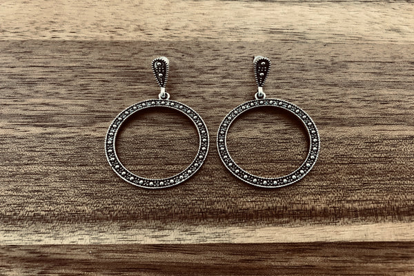 Antique Finish Drop Earrings - Bay & Harbour