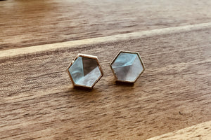 Multi Marble Stud Earrings