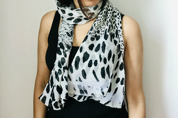 Spotted Print Scarf