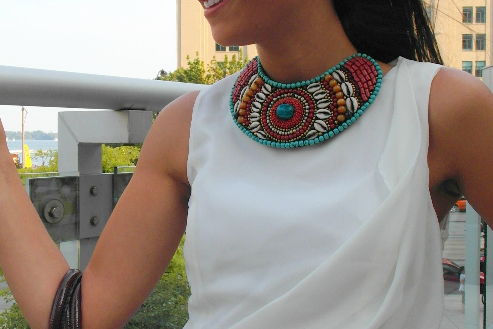 Tribal Bead Collar
