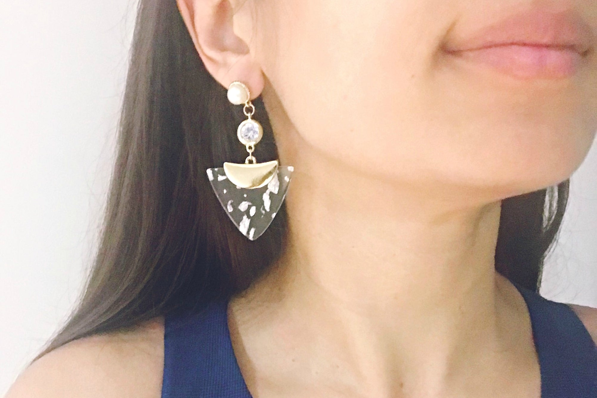 Acrylic & Pearl Chandelier Earrings - Bay & Harbour