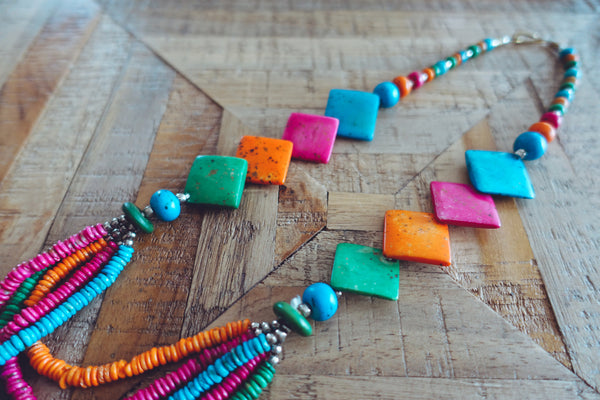 Rainbow Bead Necklace - Bay & Harbour