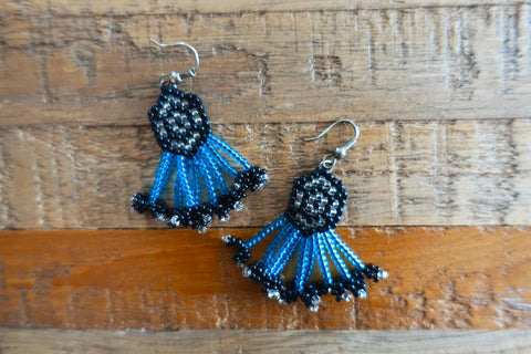 Hand-Beaded Tribal Earrings