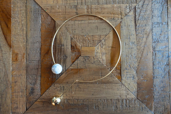 White Turquoise Open Collar Necklace - Bay & Harbour