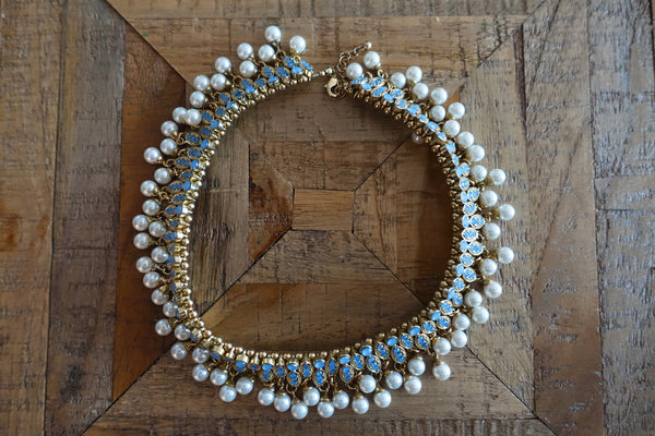 Pearl & Crystal Choker Necklace - Bay & Harbour