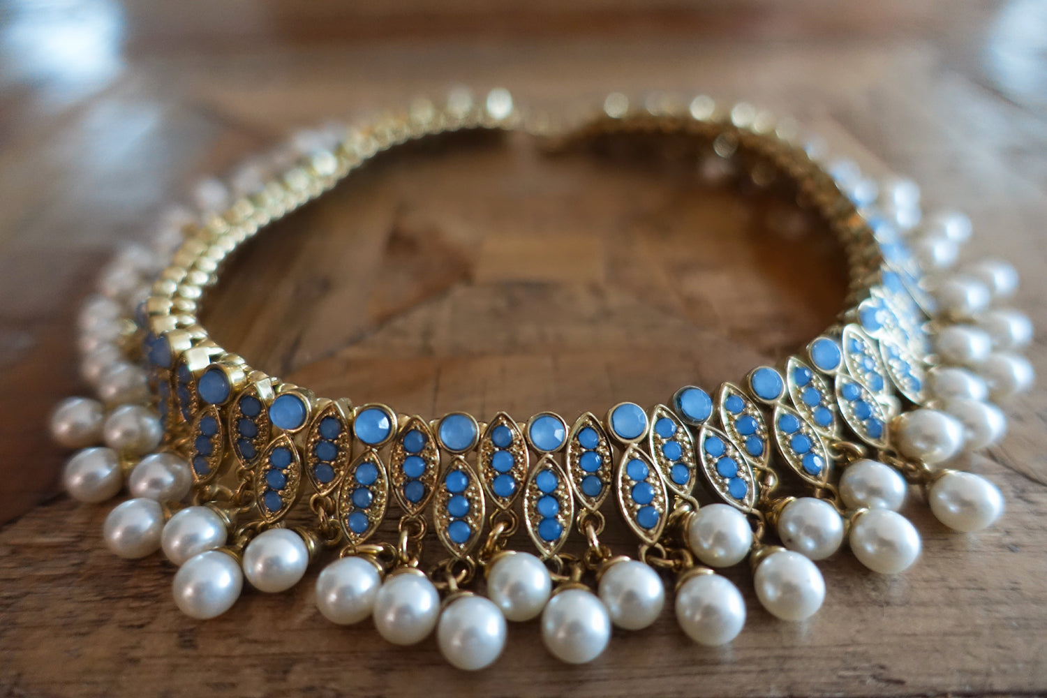 Pearl & Crystal Choker Necklace