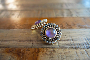 Regal Purple Stud Earrings - Bay & Harbour