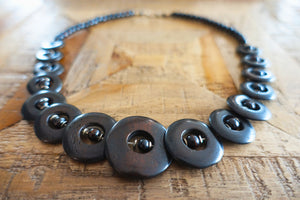 Circular Disc Tribal Necklace