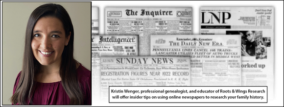 Winter Workshop: Genealogy Research in Online Newspapers