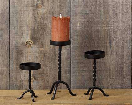 Candle Holder: Wrought Iron Pedestal