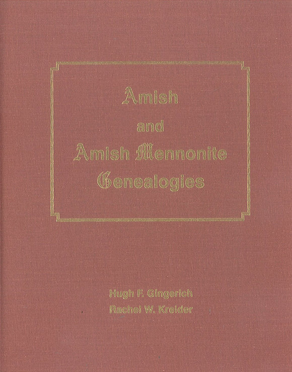 Amish and Amish Mennonite Genealogies