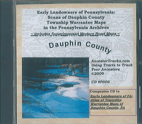 Early Landowners of PA (CD): Scans of Dauphin Co.