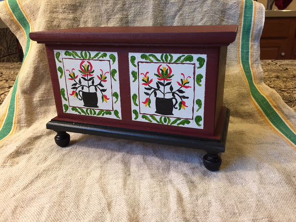 Folk Art Class: Painting a Mini Blanket Chest