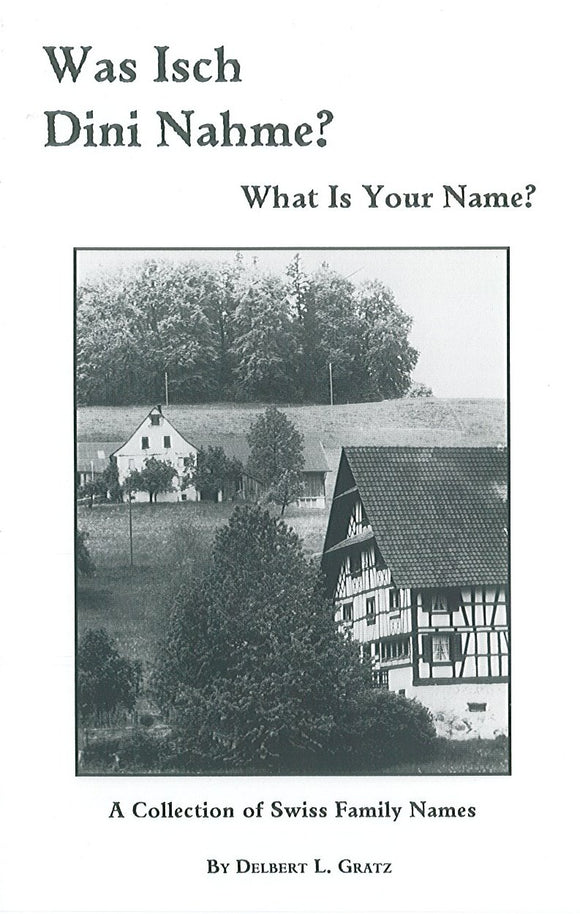 Was Isch Dini Nahme? What is Your Name?: A Collection of Swiss Family Names