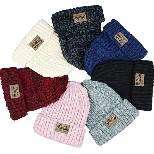 Unisex Multi-Colored Letter Wool Beanie